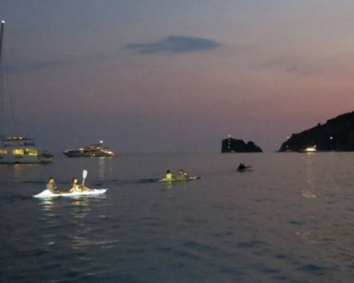 Canoeing and Cilento ... under the moonlight...
