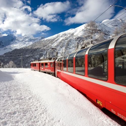 Bernina Red Train