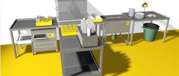 Progetto tipo di zona lavaggio con le nostre macchine inserite