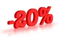 Sconti fino al 20%