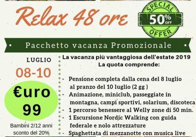 Relax 48 ore: pacchetto promozionale
