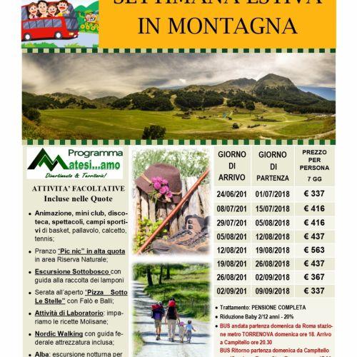 Speciale Settimana in Montagna con trasporto in Bus da Roma