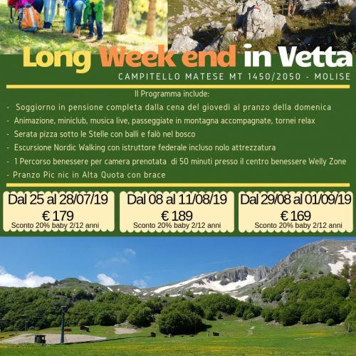 Long Week end in Vetta