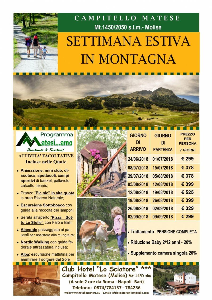 Settimana Estiva in Montagna