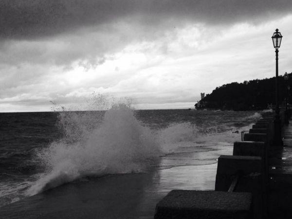 Il mare d'inverno all' Hotel Miramare!