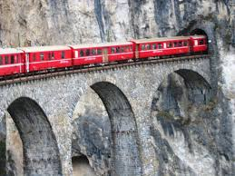 The Red Train of Bernina  on the carriage 1st class