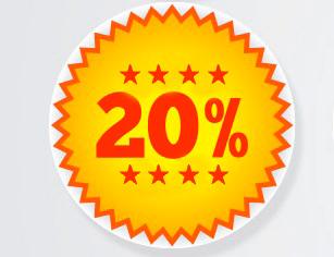Rabais 20%!