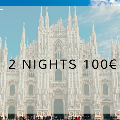 2x1 Two nights 100 €