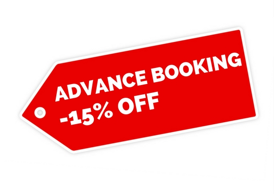Special Offer Advance Booking!  Book now and pay at check-out!