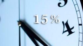 15% Rabatt für Buchungen von 7 Nächten in Bed&Breakfast