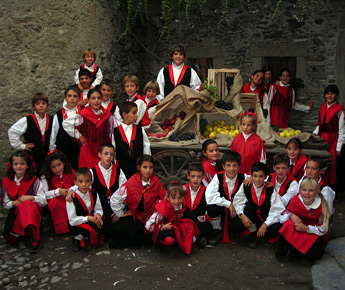 Festival of traditional Livigno's clothes