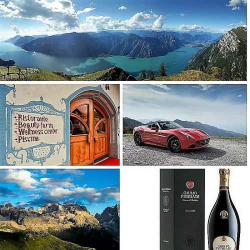 Dal lago di Garda alle Dolomiti in Ferrari