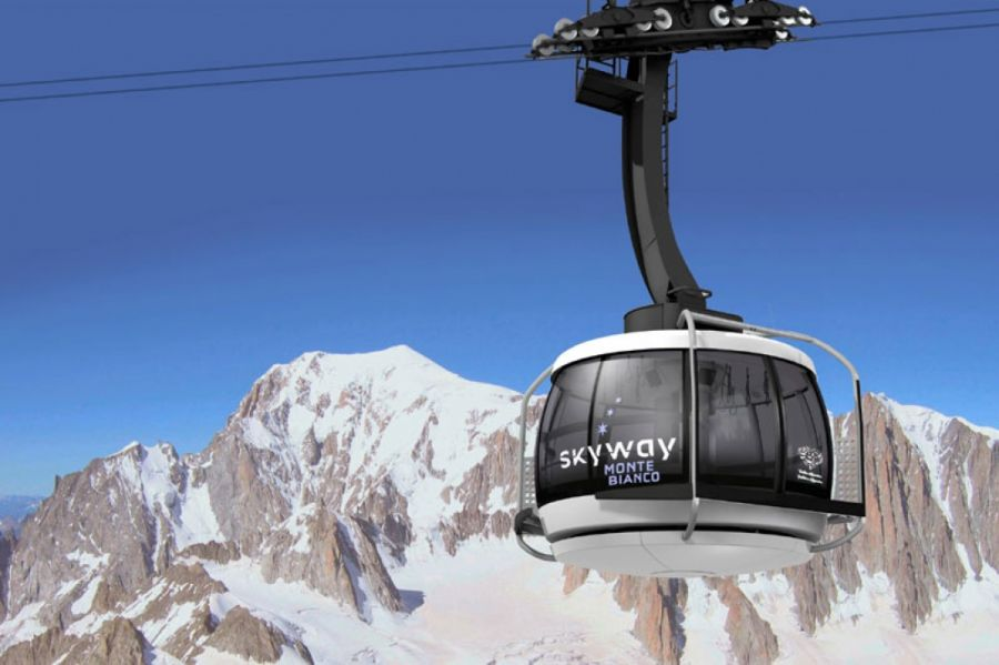 New Mont Blanc Skyway cable car.