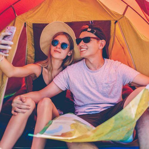 Speciale giovani/ragazzi in tenda - vacanza in tenda canadese o igloo 2/3 posti
