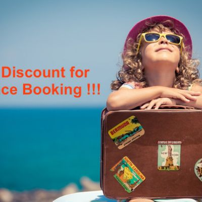 15% DISCOUNT for EARLY BOOKING in 2020