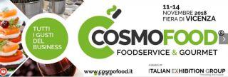 Cosmofood 11-14 Novembre 2018 Vicenza