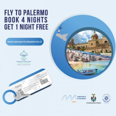 FLY TO PALERMO - Book 4 nights, Get 1 Night free!