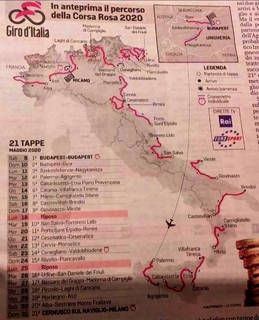 16 maggio 2020...Il giro d'Italia fà tappa a Vieste