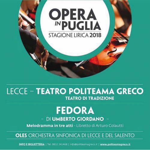FEDORA di Umberto Giordano -Teatro Politeama Greco- Lecce