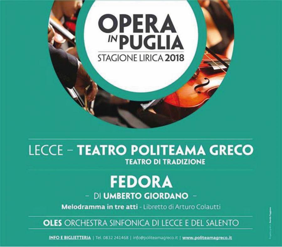 Fedora Di Umberto Giordano Teatro Politeama Greco Lecce Offerte