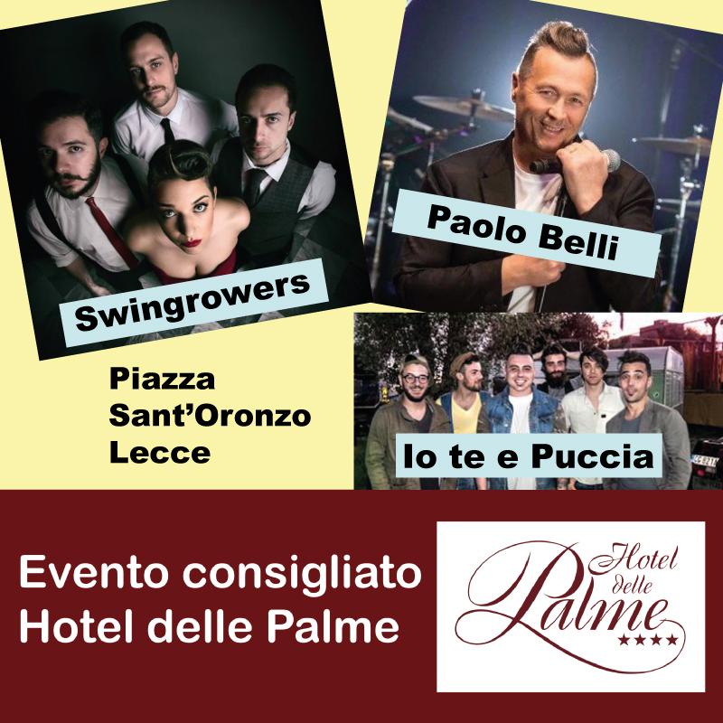 Concerto live di Paolo Belli, Io te e Puccia e Swingrowers.