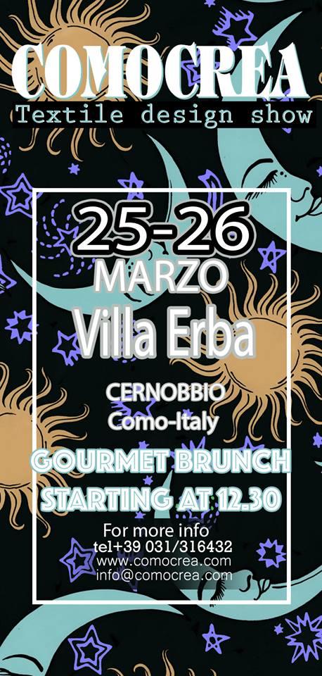 FIERA INTERNAZIONALE COMOCREA A VILLA ERBA, CERNOBBIO.