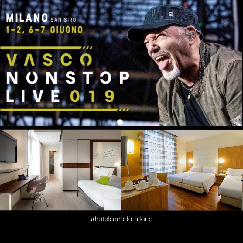 OFFERTA HOTEL MILANO CONCERTO VASCO GIUGNO 2019