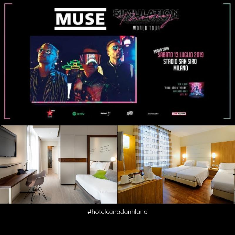 OFFERTA HOTEL MILANO CENTRO  CONCERTO MUSE SAN SIRO 2019