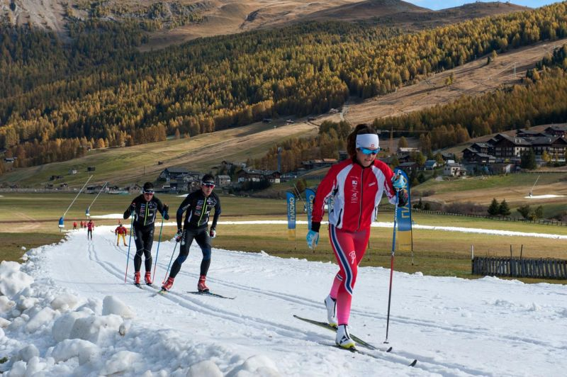 Cross-country track openinig in Livigno