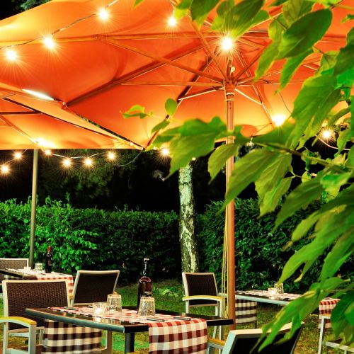 The Osteria in the garden