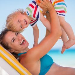 Single parent and child in Milano Marittima