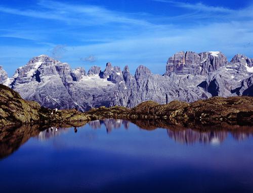Hiking in summer in Madonna di Campiglio